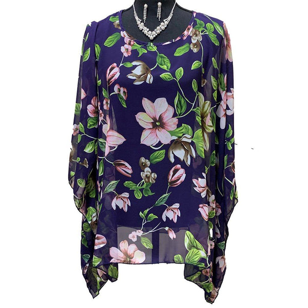 Florence Flower Poncho