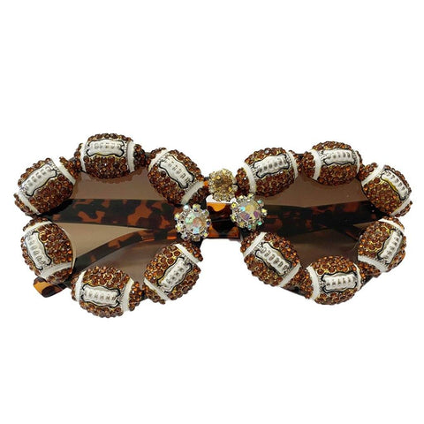 Franny Football Rhinestone Sunglasses