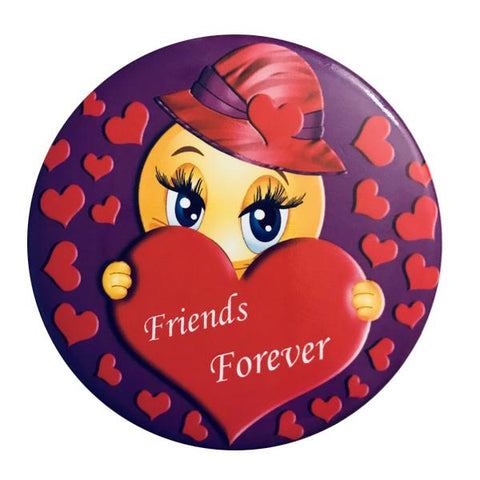 Friends Forever Button Pin - Purple