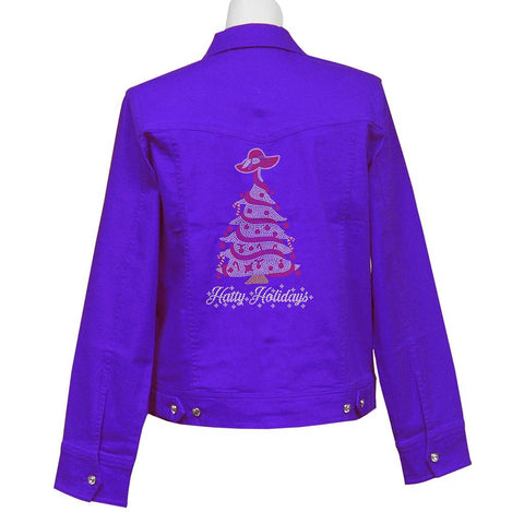 Hatty Holidays Crystal Denim Jacket