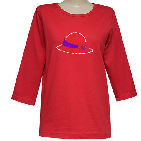 Helen Heart Hat 3/4 Scoop Classic Shirt