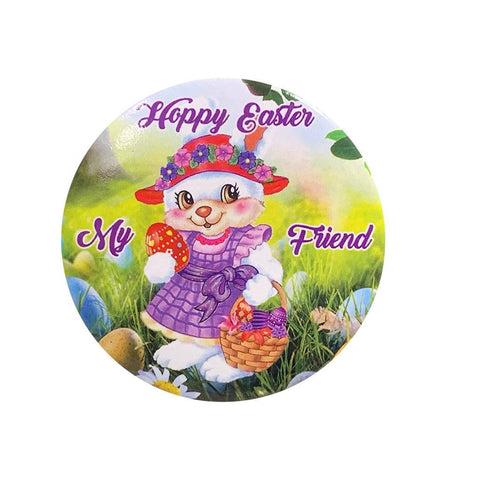 Hoppy Easter Button Pin