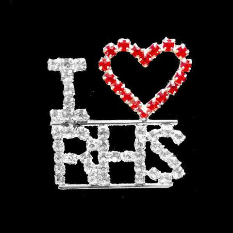 I Love RHS Rhinestone Pin