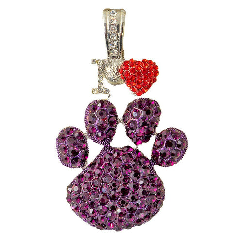 I Love Woof Woof Necklace Pendant