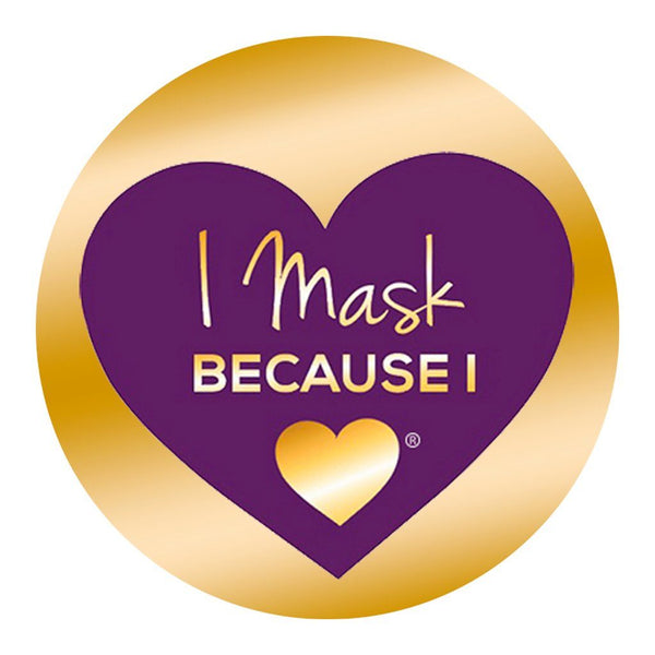 I Mask Because I Love Button Pin