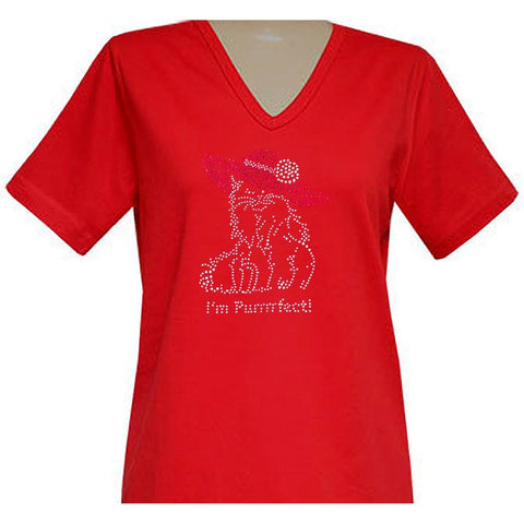 I'm Purrrfect Short Sleeve  V-Neck Classic Shirt