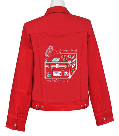 International Red Hat Sisters Classic Denim Jacket