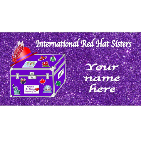 International Red Hat Sisters Custom Name Badge