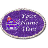 International Red Hat Sisters Custom Oval Name Badge Custom Conde Magnet Magnetic