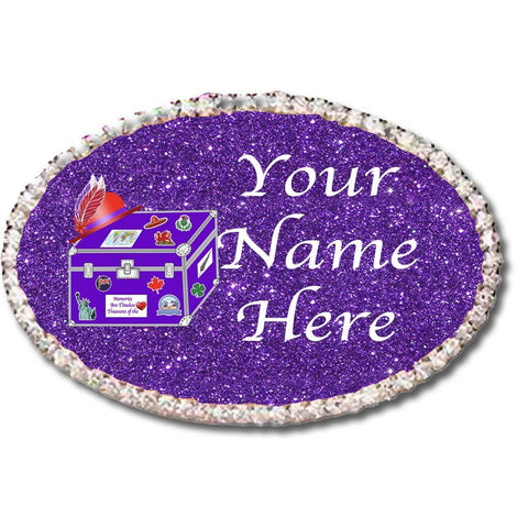 International Red Hat Sisters Custom Oval Name Badge