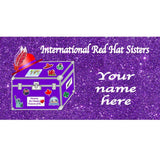 International Red Hat Sisters Custom Pocket Planner Stationery Royal Splendor