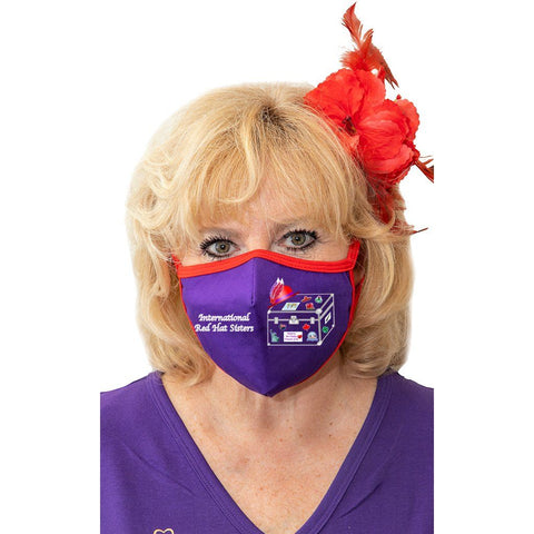 International Red Hat Sisters Face Mask
