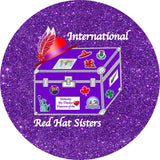 International Red Hat Sisters Iron On Patch Accessories/Small Conde