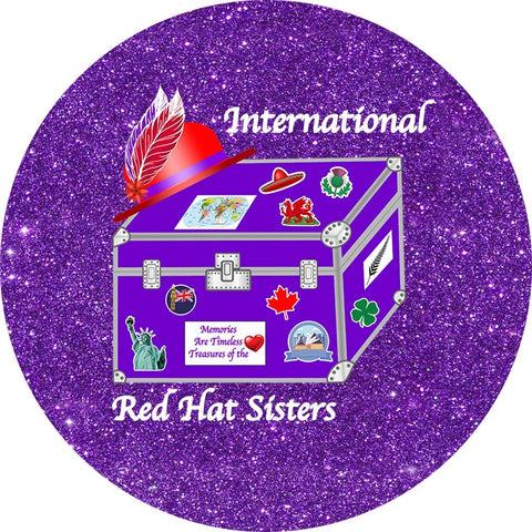 International Red Hat Sisters Iron On Patch