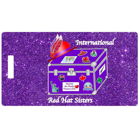 International Red Hat Sisters Luggage Tag
