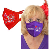 International Red Hat Sisters Solid Color Face Mask Accessories Daniali P/P & R/R