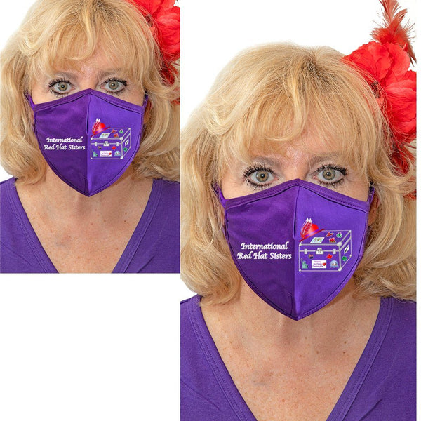 International Red Hat Sisters Solid Color Face Mask