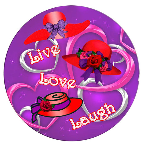 Live, Love, Laugh Button Pin