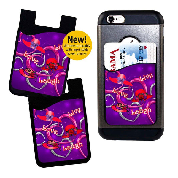 Live, Love, Laugh Card Caddy Phone Wallet