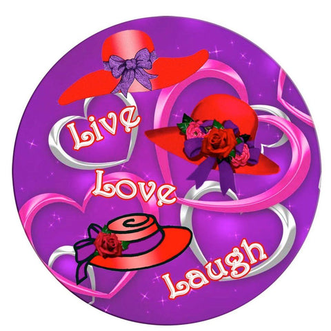 Live, Love, Laugh Iron on Patch