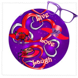 Live, Love, Laugh Microfiber Cleaning Cloth Accessories/Small JDL Industries
