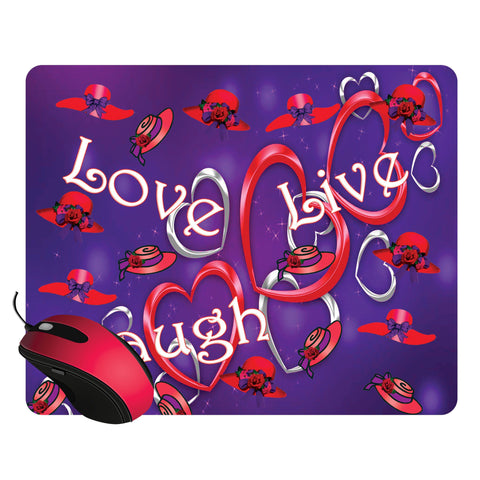 Live, Love, Laugh Mouse Pad