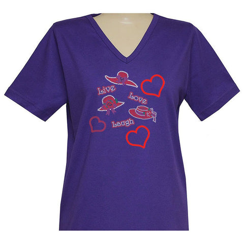 Live, Love, Laugh Short Sleeve Classic Shirt