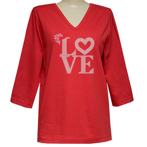 Love of The Hat 3/4 V Neck Classic