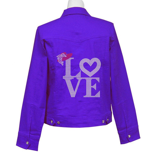 Love of The Hat Crystal Denim Jacket