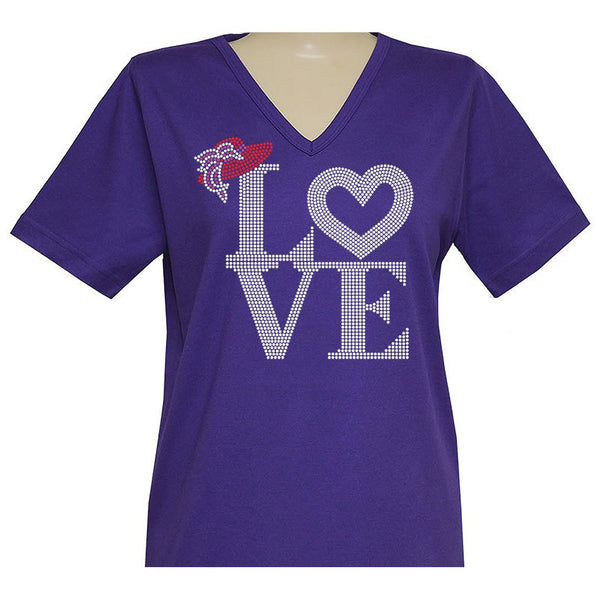 Love of The Hat Short Sleeve Classic V Neck