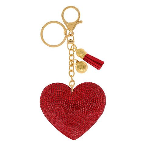 Love Rhinestone Key Ring