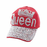Majestic Queen with Crown Baseball Hat Hats Something Special Hats LA