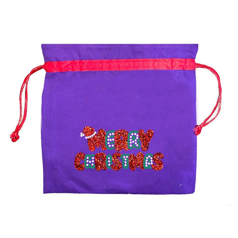 Merry Christmas Face Mask Bag
