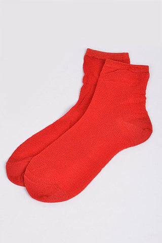 Mesh Red Socks