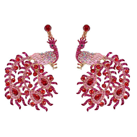 Pam Peacock Earrings
