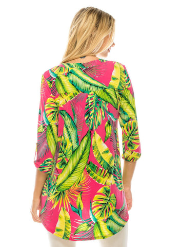 Paradise 3/4 Sleeve Fashion Top