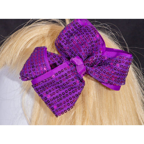 Patsy Double Sequin Bow Clip