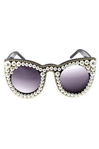 Pearly Pearl Rhinestone Sunglasses