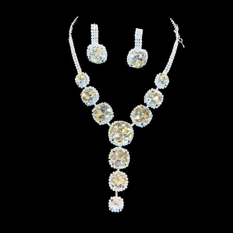 Priscilla Rhinestone Necklace Set