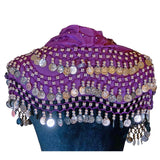Purple Belly Dance Skirt Scarf Accessories/Shawl Apple Accessories Purple