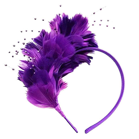 *Purple Passion Feather Headband