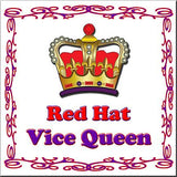 Queen and Vice Queen Stickers Stationery 4 Over Vice Queen