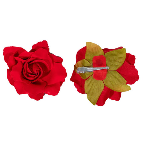 Rain Rose Hair Barrette Set