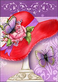 Red Hat Butterfly Card Set