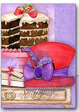 Red Hat Cake Note Card Set Stationery It Takes Two