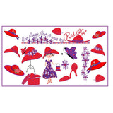 Red Hat Collage Pocket Planner Stationery Royal Splendor