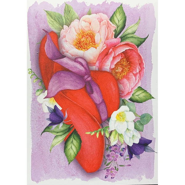 Red Hat Floral Card Set