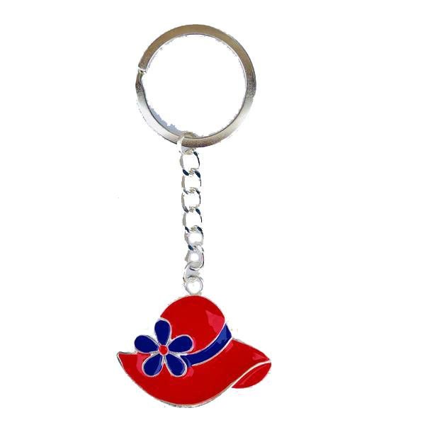 Red Hat Flower Key Ring