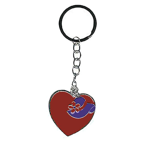 Red Hat Heart Key Ring