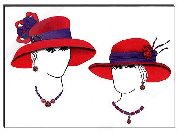 Red Hat Ladies Note Card Set